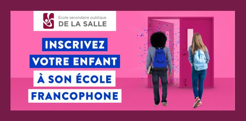 Inscrivez votre enfant à son école francophone